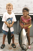 Even kids enjoy fishing!